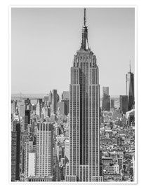 Premium poster  New York City aerial skyline