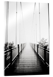 Acrylic print  Wooden bridge in fog
