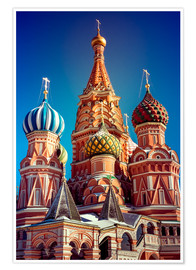 Premium poster  St. Basil's Cathedral, Russia
