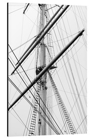 Aluminium print  Detail view of a sailboat mast