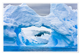 Premium poster  Large Arctic iceberg with a cavity inside