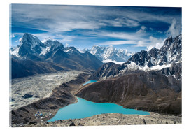 Acrylic print  Mountains with lake in the Himalayas, Nepal