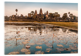Acrylic print  Angkor Wat at sunset