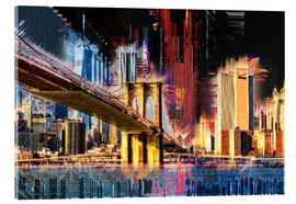 Acrylic print  New York mit Brooklyn Bridge - Peter Roder