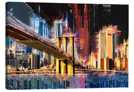 Canvas print  New York mit Brooklyn Bridge - Peter Roder