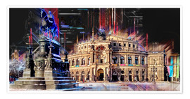 Premium poster Semperoper in Dresden