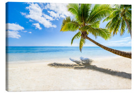 Canvas print  Palm beach and sea in summer vacation - Jan Christopher Becke