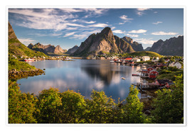 Premium poster Fishing village in the Lofoten Islands, Norway