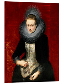 Acrylic print  woman with a rosary - Peter Paul Rubens