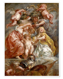 Premium poster  The Union of England and Scotland - Peter Paul Rubens