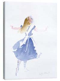 Canvas  Alice in Profile - Lesley Fotherby