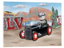 Acrylic glass  Las Vegas Hot Rod Frenchie - Macsorro