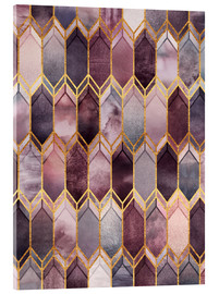 Acrylic print  Dreamy Stained Glass - Elisabeth Fredriksson