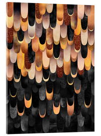 Acrylic glass  Feathered   Copper And Black - Elisabeth Fredriksson
