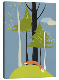 Canvas print  Fox in the forest - Kidz Collection