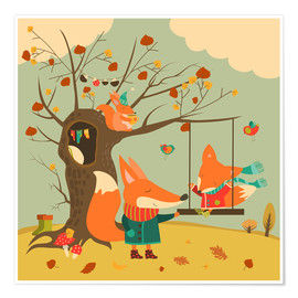 Premium poster  Swingin' in the autumn wind - Kidz Collection