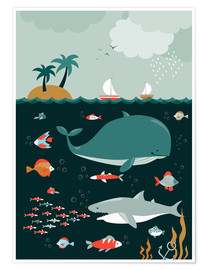 Premium poster  The world under water - Kidz Collection