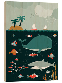 Wood print  The world under water - Kidz Collection
