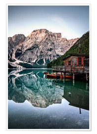 Premium poster Braies Lake, South Tyrol, Italy