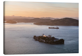 Canvas  Alcatraz island in the bay of San Francisco - Matteo Colombo
