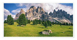 Premium poster Summer in the Dolomite Alps