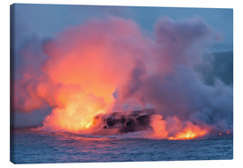 Canvas  Lava Flowing into the Pacific Ocean on Big Island, Hawaii - Markus Ulrich