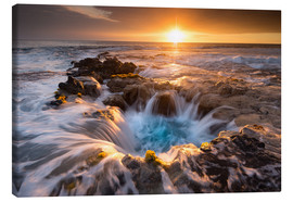 Canvas  Pools of Paradise during Sunset at the Coast of Hawaii (Big Island) - Markus Ulrich