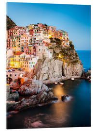 Acrylic print  Manarola in the evening, Cinque Terre, Italy - Matteo Colombo