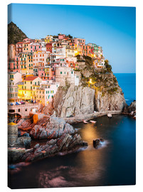 Canvas print  Manarola in the evening, Cinque Terre, Italy - Matteo Colombo