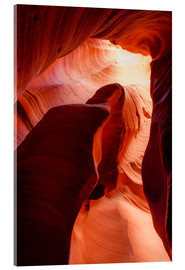 Acrylic print  Formation in Canyon X slot canyon, Page, Arizona, USA - Peter Wey