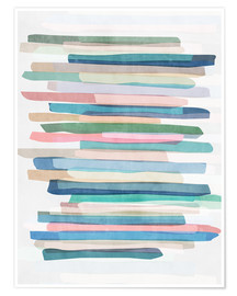 Poster  Pastel Stripes 1 - Mareike Böhmer Graphics