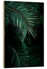 Wood print  Palm leaves 9 - Mareike Böhmer