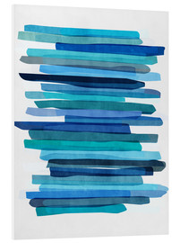 Mareike Böhmer Graphics - Blue Stripes 1