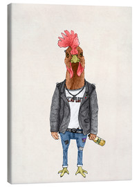 Canvas print  Punk Rooster - Barruf