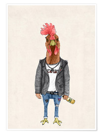 Premium poster Punk Rooster
