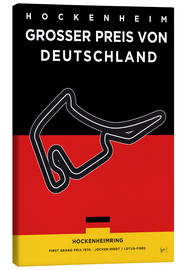 Canvas print  My F1 Germany Race Track Minimal Poster - chungkong