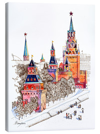 Canvas  Kremlin, Red Square, Moscow - Anastasia Mamoshina