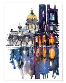Premium poster  Rainy Day in Saint Petersburg, Russia - Anastasia Mamoshina