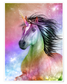 Premium poster  Unicorn - Be Authentic - Dolphins DreamDesign