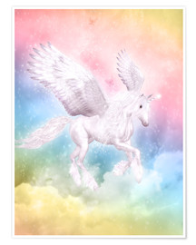 Premium poster  Unicorn Pegasus, big dreams - Dolphins DreamDesign