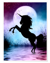 Premium poster  Unicorn Magic - Dolphins DreamDesign
