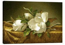 Canvas print  Magnolias on Gold Velvet Cloth - Martin Johnson Heade