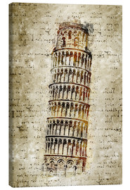 Canvas print  THE LEANING TOWER OF PISA - Michael artefacti