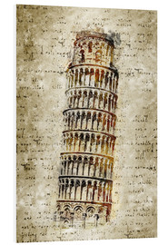 Foam board print  THE LEANING TOWER OF PISA - Michael artefacti
