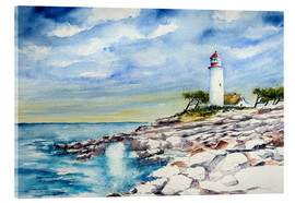 Acrylic print  Lighthouse over cliffs - Brigitte Dürr
