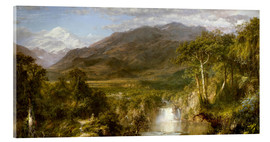 Acrylic print  Heart of the Andes - Frederic Edwin Church