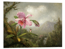 Martin Johnson Heade - Orchid and Hummingbird