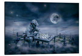 Aluminium print  A boy is playing Chess - teddynash