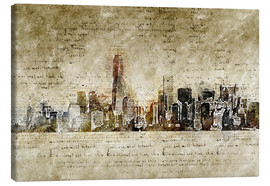 Canvas print  Skyline of New York in modern abstract vintage look - Michael artefacti