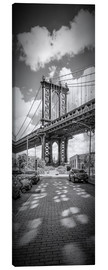 Canvas  NEW YORK CITY Manhattan Bridge Panorama - Melanie Viola